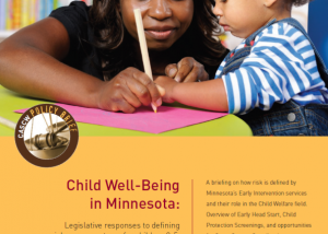 Early childhood policy brief cover