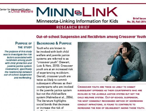 Out-of-school Suspension and Recidivism among Crossover Youth (ML#30)